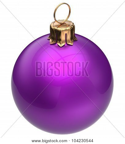 Christmas Ball Purple New Year's Eve Bauble Winter Decoration