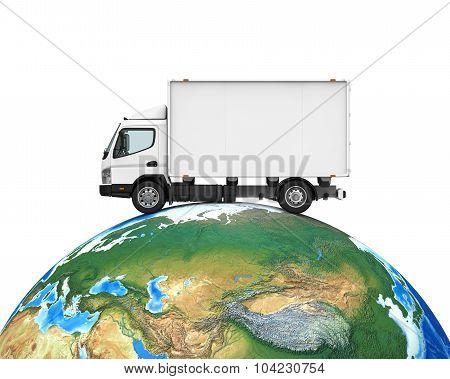 Worldwide Shipping Illustration