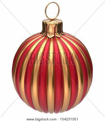 Christmas Ball New Year's Eve Bauble Decoration Golden Red
