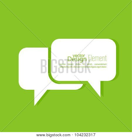 Abstract background with Speech Bubbles symbol.
