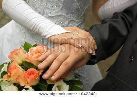 Just Married - Holding Hands