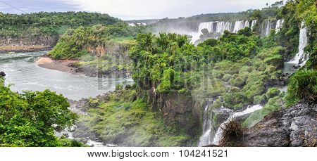 Upper Circuit At Iguazu Falls, Argentina