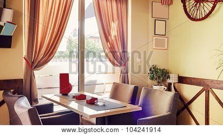 Cafe Interior Retro Design