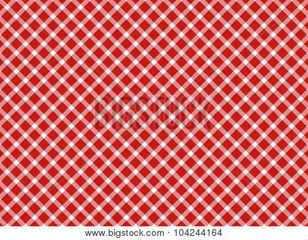 Retro Tablecloth Red White