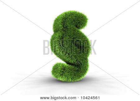 Grass Paragraph Sign