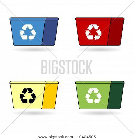 Recycling Trash Boxes