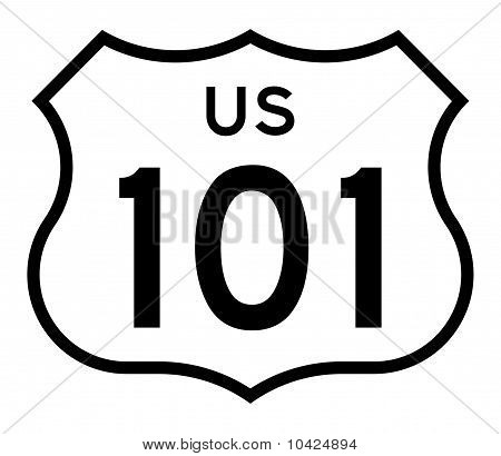 Us Route 101 Highway Sign