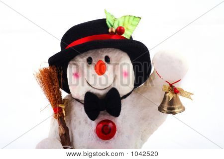 Cute Snowman With Bell