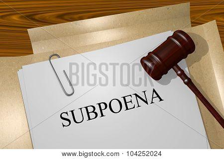 Subpoena Concept