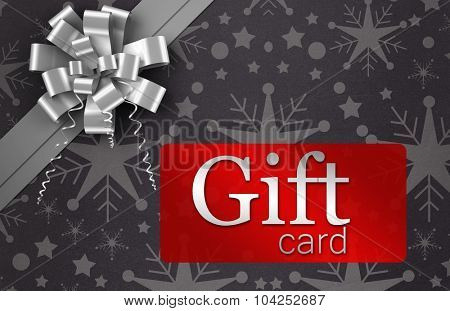 Digitally generated Gift card with festive bow