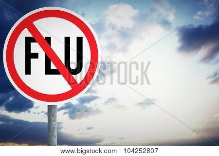 flu against cloudy sky