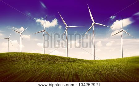 Environmental Conservation Windmill Outdoors Green Concept
