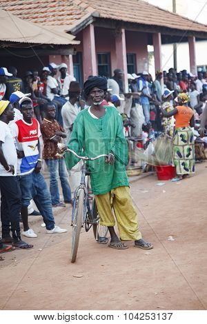 African Man With His Bicycle