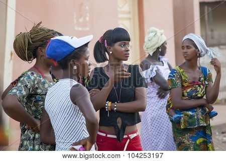 African Girls At A Public Gathering