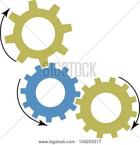 Mechanism Of Gears Icon