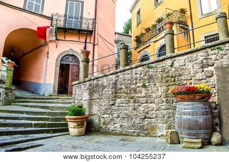 Montefiascone Village Steps Alley - Lazio - Viterbo -  Discover Italy Travels