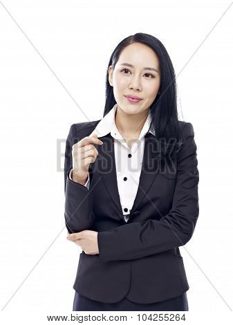Studio Portrait Of Asian Businesswoman