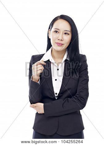 Studio Portrait Of Asian Businesswoman