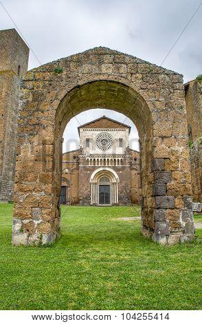 Tuscania Church Arc - Viterbo - Travel Italy