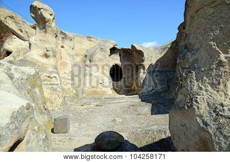 Former Rooms Of Old Cave City Uplistsikhe Inhabitants In Caucasus Region, Georgia.
