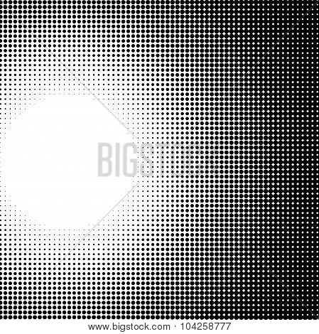 Radial Light Effect Gradient In Halftone Style