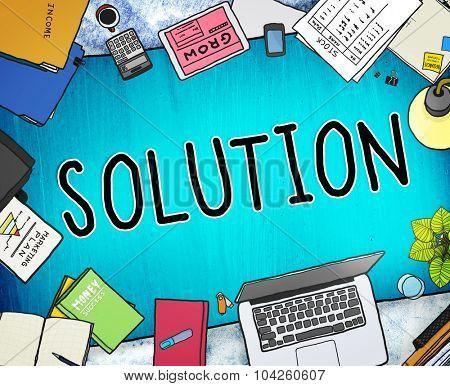 Solution Innovation Progress Strategy Decision Concept