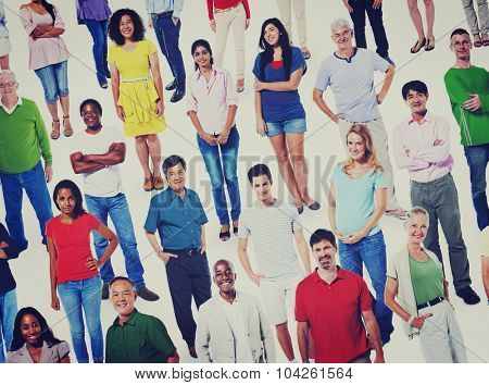 Diverse People Community Crowd Communication Concept