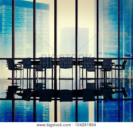 Meeting Table Board Room Office Concept