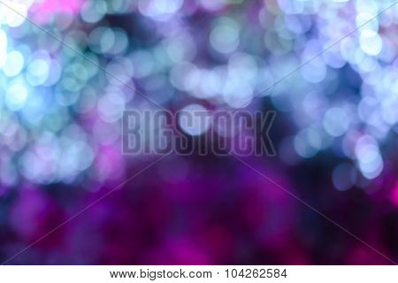 the colorful bokeh background