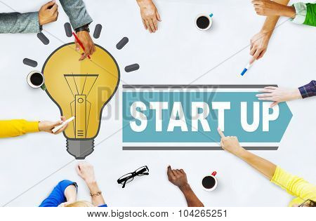 Start Up Business Launch Growth Concept