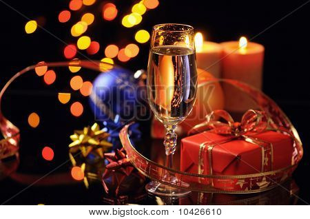 Wineglass With A Champagne