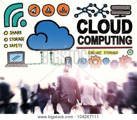 Cloud Computing Connection Network Internet Storage Concept