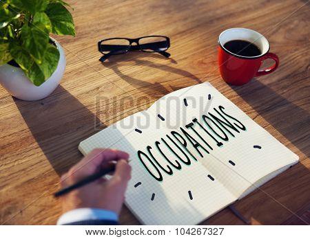 Occupations Career Job Employment Hiring Recruiting Concept