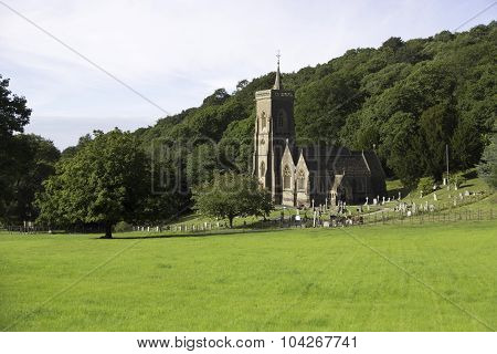 Church On A Hillside In Somerset,uk