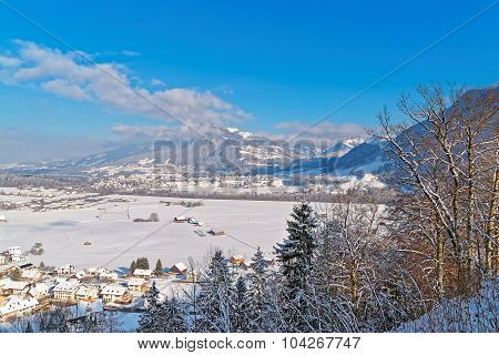 Beautiful Winter Landscape Of Gruyere
