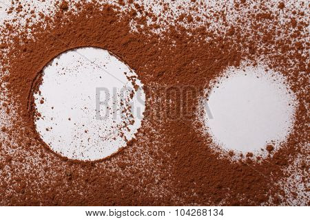 Organic frame background. Food texture