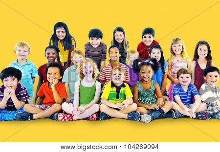 Kids Children Elementary Age Diversity Concept