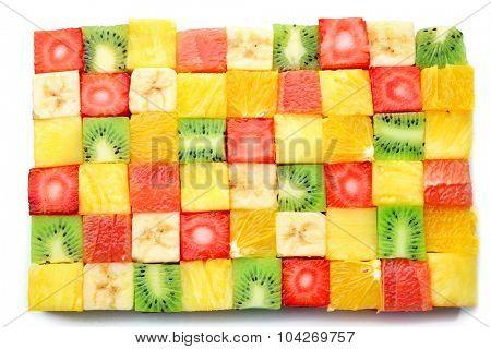 Sliced fruits close up