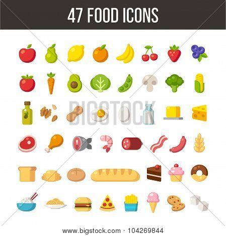 47 Food Icons