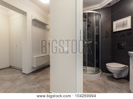 Small Bathroom Placed In Hall
