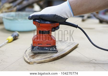 Red Electric Sander
