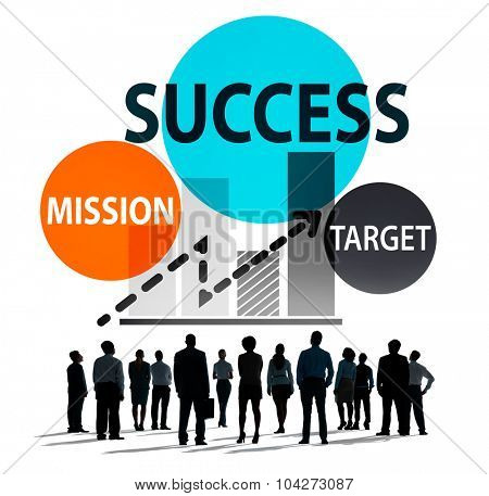 Success Mission Business Growth Planning Concept