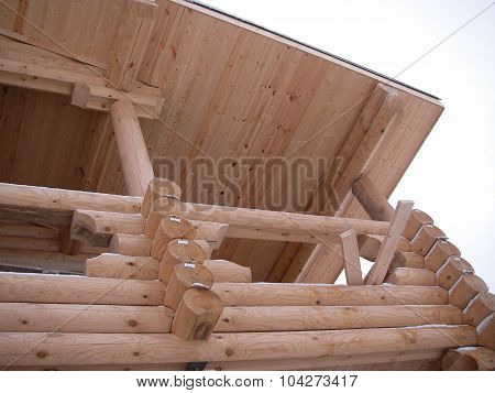 Felling of the wooden house