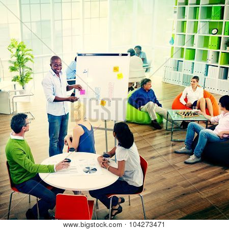 Group of Business People Office Planning Corporate Concept
