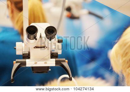 Dentist microscope for teeth