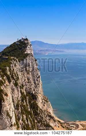Gibraltar Rock And Mediterranean Sea