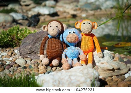 Soft Toys - Three Monkeys