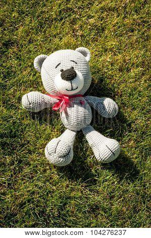 Soft Toy - Lying Bear