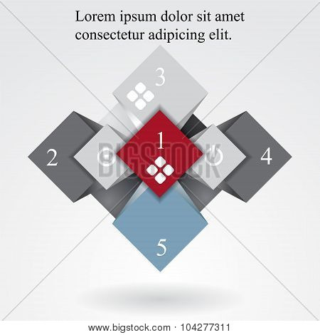 Geometric Info Graphic Elements-illustration