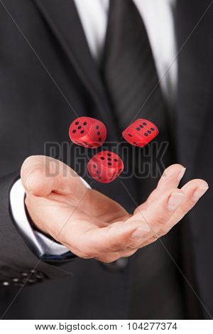 Man Let Float Dice